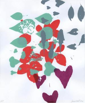 Student - Samantha Mae Richey, Theme: Found Plants Composition, Screenprint,